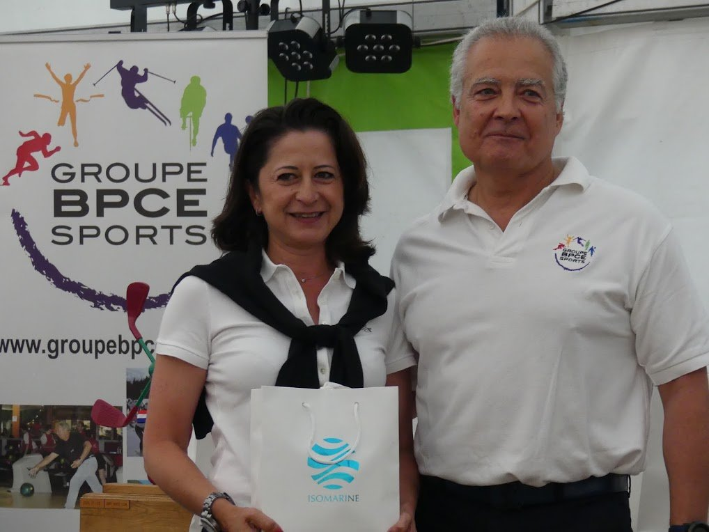 Couple de gagants des 29ᵉ Challenge de Golf  Groupe BPCE Sports